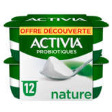 Danone Danone Activia - Yaourt Nature Bifidus Actiregularis - 12x125g