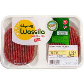 Steak haché 15%mg pur bœuf - x2 - Halal