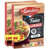 Le Gaulois Foies De Volaille Confits - X2 - 1,2kg