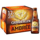 Grimbergen Bière Ambrée - Alcool 6,5% Vol - 12x25cl