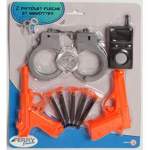 Set pistolet à flèche et menottes