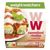 WeightWatchers Plat Cuisiné Cannelloni Ricotta Épinards - 290g