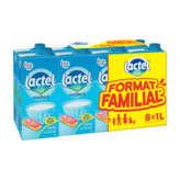 Lactel Lait Demi-écrémé - 8x1l