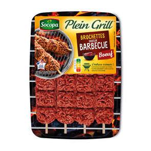 Plein Grill - Brochettes de bœuf saveur barbecue - x4