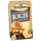 Riches Monts RICHESMONTS La Raclette spécial Burger en tranches - x6 - 140g