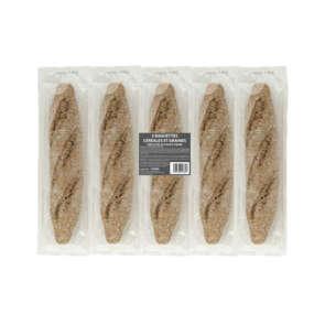 Baguettes aux céréales précuites - x5