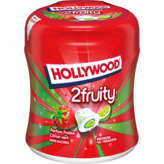 Hollywood Sweet Gum Fraise Citron Vert Sans Sucres 40 Dragees 88g