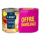 St Mamet Cocktail De Fruits - 2x850g