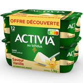 Danone Danone Activia - Bifidus - Saveur Vanille - 12x125g