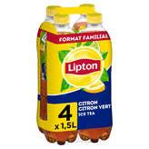 Lipton LIPTON Ice tea - Boisson aromatisée au citron vert - 4x1,5l