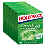 Hollywood HOLLYWOOD Green fresh - Chewing gum menthe verte sans sucres... - 70g