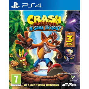 Jeu PS4 Crash Bandicoot N'Sane Trilogy