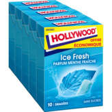 Hollywood HOLLYWOOD Ice fresh - Chewing-gum - Dragées - Parfum menthe ... - 5x70g