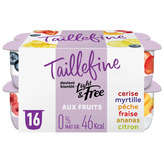 Taillefine yaourts aux fruits panaches 0% 16x125g