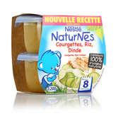 Nestlé Nestle Naturnes - Pots Bébés - Courgettes, Riz, Dinde - Dès ... - 2x200g