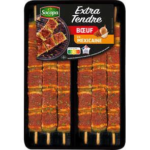 Brochette de bœuf extra tendre à la mexicaine - x6