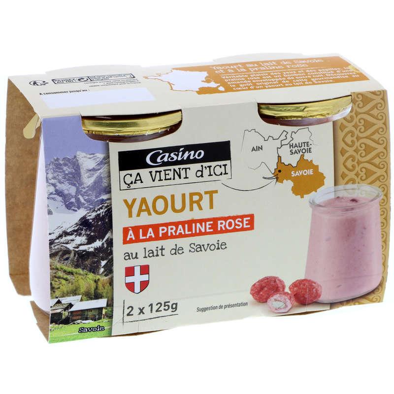 Yaourt au lait de Savoie - A la pralin...