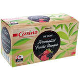 CASINO Thé noir - Aromatisé fruits rouges 40g