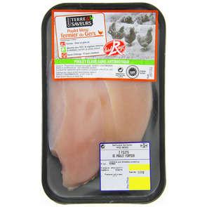 Escalope de poulet fermier blanc  - x2