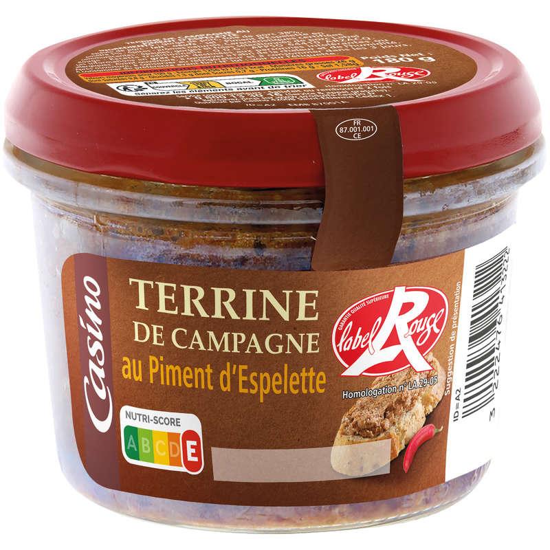 Terrine de campagne au piment d'espelette - Label rou...
