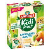 Andros ANDROS Kidi Fruit - Gourdes fruits mixés - Pomme et Vanilles... - 4x85g