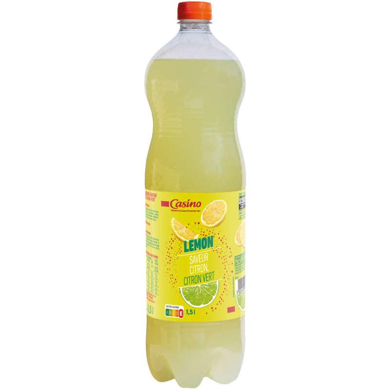 CASINO Lemon - Boisson gazeuse - Saveur citron citron vert