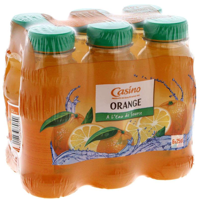 CASINO Boisson aux fruits - Orange - A l'eau de source