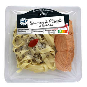 Filet de saumon - Vapeur - Al'oseille - Tagliatelles