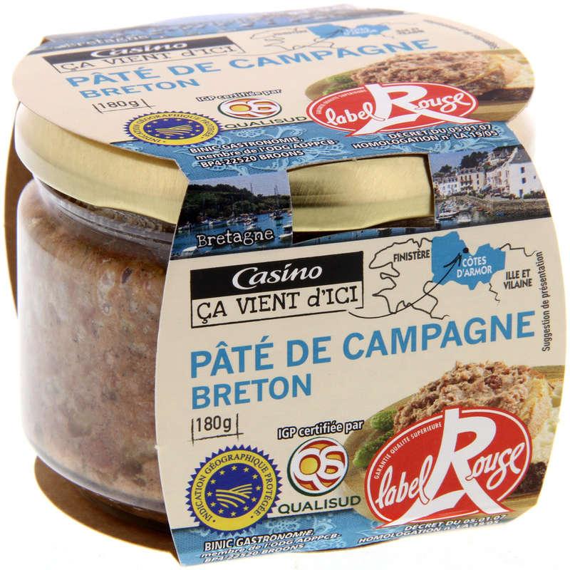 Pâté de campagne breton IGP - Label Ro...