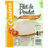CASINO Filet de poulet - Fumé au bois de hêtre - 4