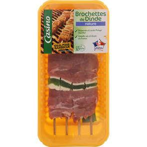 Brochettes de dinde aux poivrons - x4