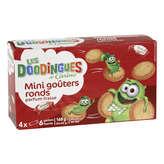LES DOODINGUES Mini gouters ronds fraises 168g