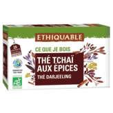 Ethiquable ETHIQUABLE Thé tchaï aux épices - Thé Darjeeling - Sachets -... - x20