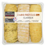 Mix Buffet Mini Pains Préfou À L'huile D'olive - X3 - 375g