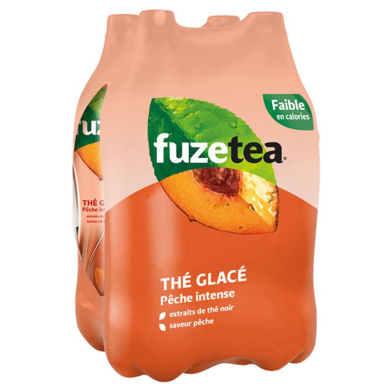 FUZE Tea Thé Noir Pêche Intense 4 x 400 ml