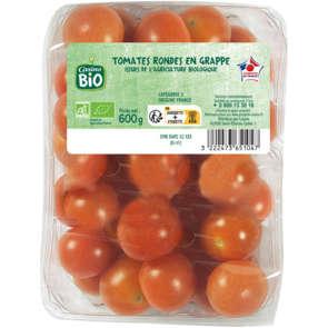 Tomates rondes en grappe - Cat. 2 - Biologique