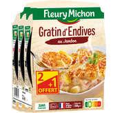 Fleury Michon Gratin D'endives Au Jambon - 3x280g