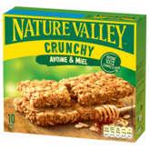 Valley NATURE VALLEY Crunchy - Barre de céréales - Avoine et miel - x10