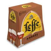 Leffe Bières - Ambrée - 6,6% Vol - 6x25cl