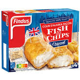 Findus 100% Filet - Filets Façon Fish & Chips - 400g