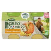 Blédina BLEDINA Les Récoltes Bio - Purée de Pomme Ananas- Petits pot... - 2x130g