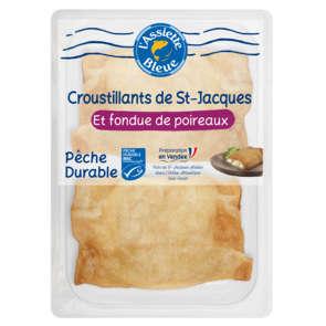 Papillottes de brick à la noix de St Jacques et fondue de Poireaux - x2