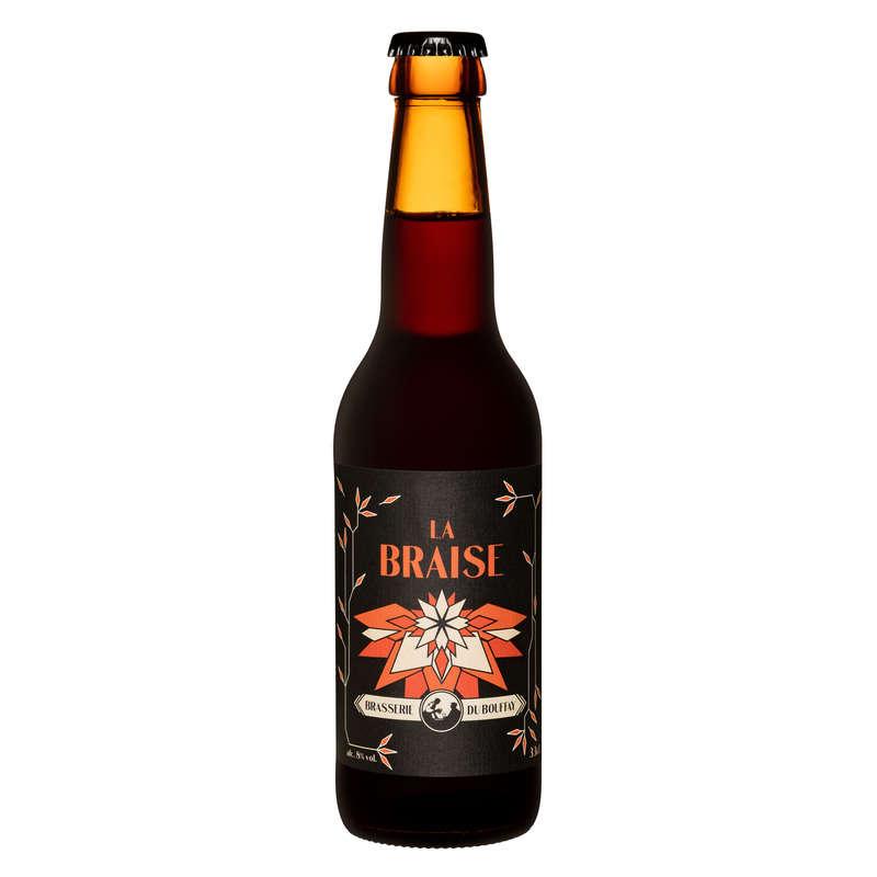 Biere brune La Braise BRASSERIE DU BOUFFAY, 8°, 33cl