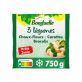 Bonduelle melanges 3 legumes choux fleurs brocolis carottes 750g