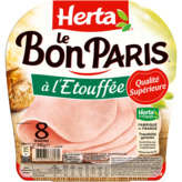 Herta Le Bon Paris - Jambon Cuit Supérieur - A L'étouffée - ...
