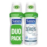 Sanex Déodorant Atomiseur Zero Invisible - 2x100ml