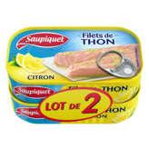 Saupiquet SAUPIQUET Filets de Thon au Citron - 2 x 115 g