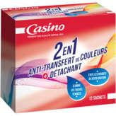 CASINO Sachets 2 en 1 - Anti-transfert de couleur