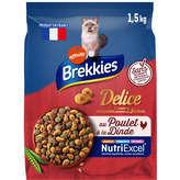 Brekkies Excel Délice Poulet Caille Légumes - 1,5kg