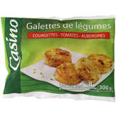 CASINO Galettes de légumes - Courgettes tomates au